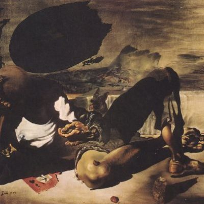Philosopher Illuminated by the Light of the Moon and the Setting Sun--Salvador Dali
